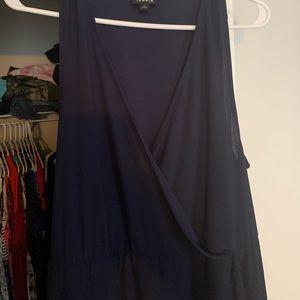 Tank top wrap dress